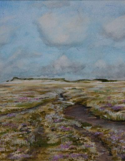 Texel, Slufter. 40x30cm, Acryl op papier