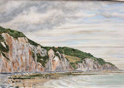Frankrijk, Fecamp, 45x30, Acryl op paneel