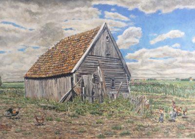 Texel, Boet van Kikkert. 60x40cm, Acryl op paneel